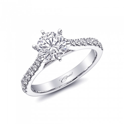 Fishtail Engagement Ring Setting (0.40ctw)