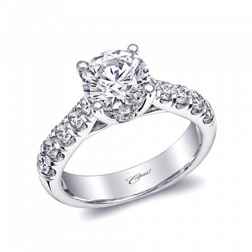 Fishtail Engagement Ring Setting (0.78ctw)