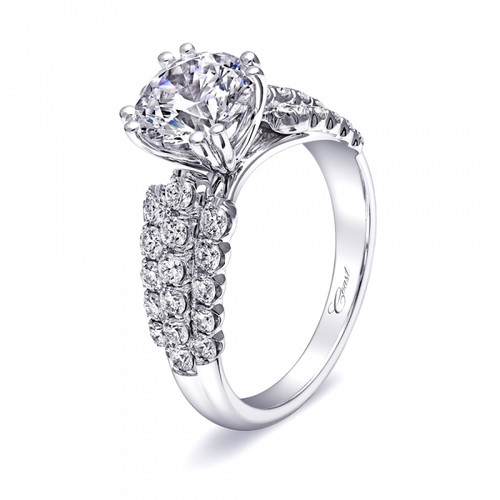 Fishtail Three Row Engagement Ring Setting (1.00ctw)