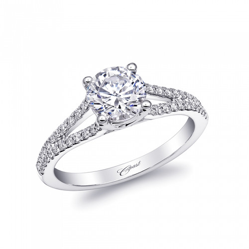 Split-Shank Engagement Ring Setting (0.22ctw)