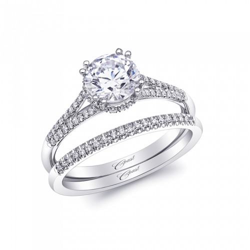 Unique Round Halo Split Shank Engagement Ring Setting 0 48ctw With