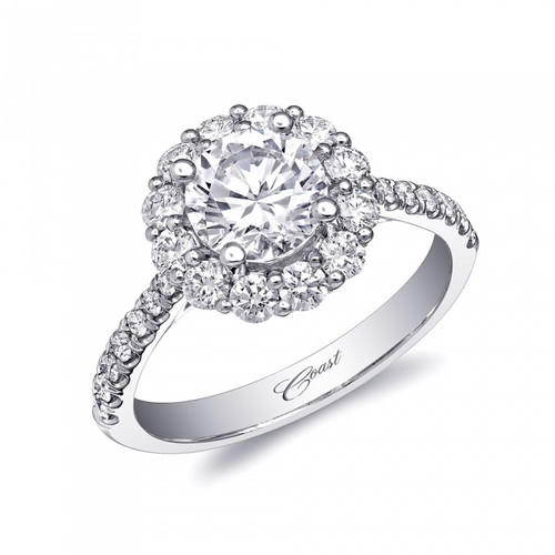 Round Halo Engagement Ring Setting (0.69ctw)