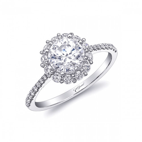 Round Halo Engagement Ring Setting (0.44ctw)
