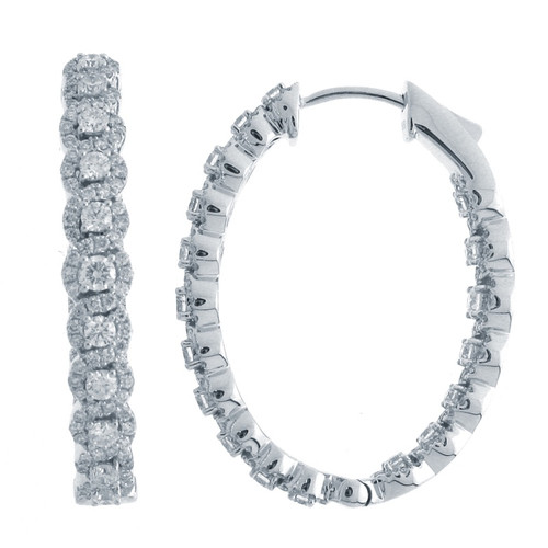 Braided Round Halo Hoop Earrings (3.90ctw)
