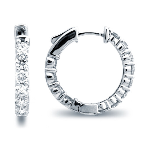 Classic Common Prong Hoop Earrings (3.55ctw)