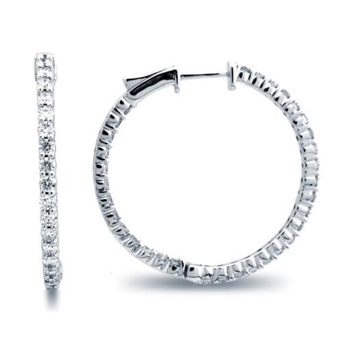 Classic Common Prong Hoop Earrings (1.78ctw)