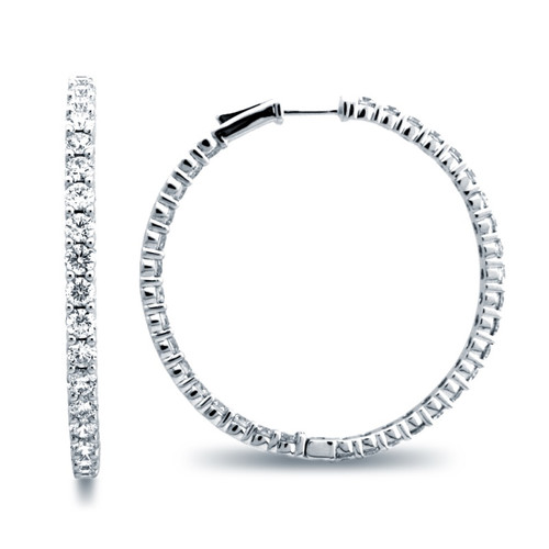 Classic Common Prong Hoop Earrings (6.45ctw)