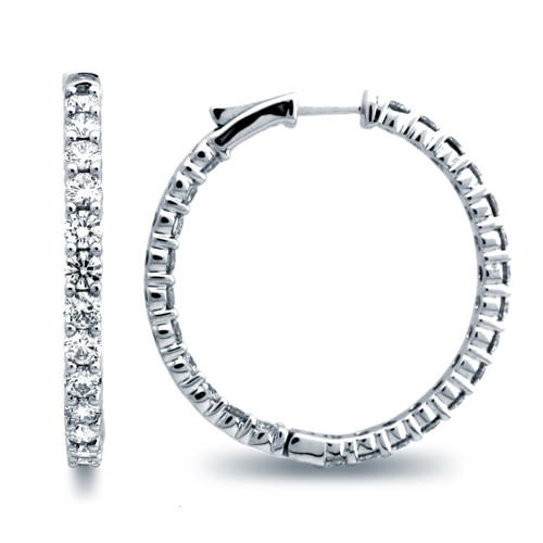 Classic Common Prong Hoop Earrings (4.72ctw)