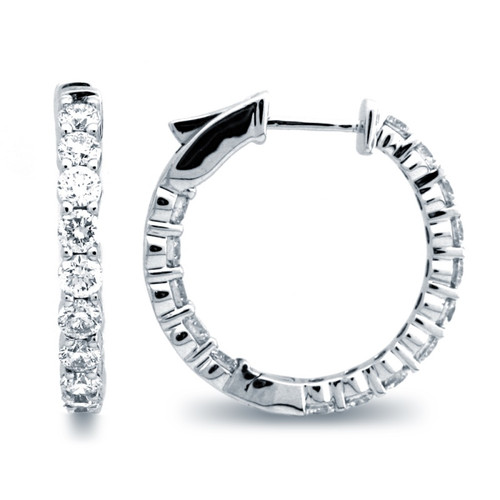 Classic Common Prong Hoop Earrings (2.85ctw)
