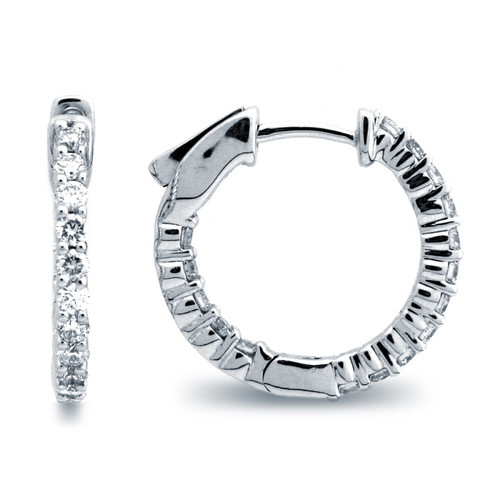 Classic Common Prong Hoop Earrings (0.86ctw)