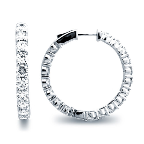 Classic Common Prong Hoop Earrings (6.83ctw)