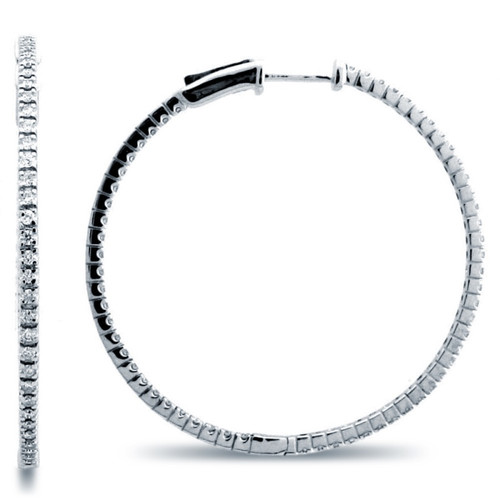 Classic Four Prong Hoop Earrings (0.90ctw)