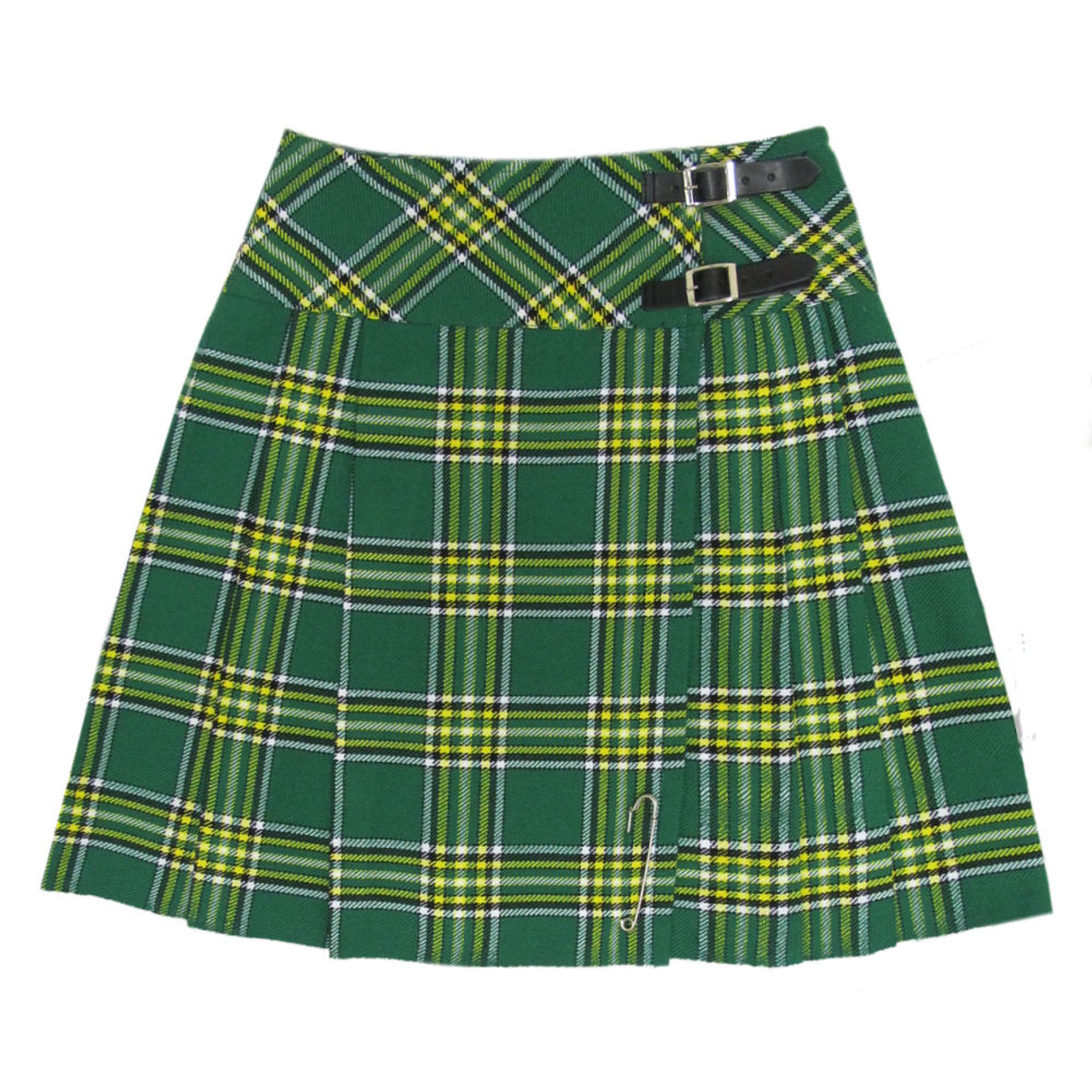 "Ladies Knee Length Black Kilt Skirt 20/"" Length Tartan Pleated"