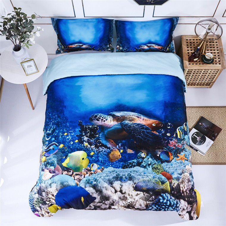 HIG 3D Bedding Set 3 Piece Reactive Print Duvet Cover with Two matching Pillow Covers -Super Soft Duvet Cover -General for Men and Women Especially for children(P30)