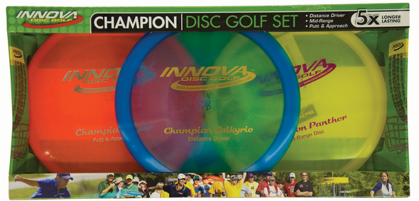 3 disc Champion plastic set