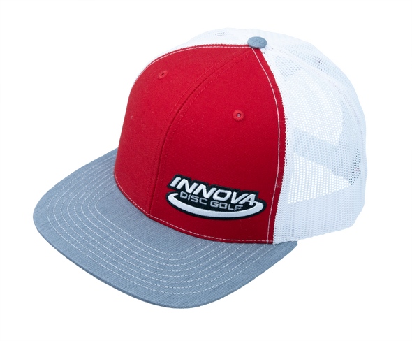 Innova Heather Red/White  Adjustable Mesh-back Hat W/ Innova Logo