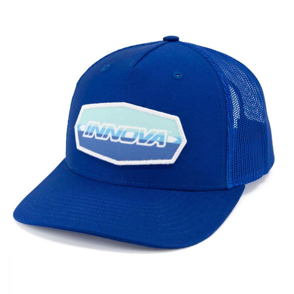 Innova Striped Bar Patch Snapback Mesh Hat
