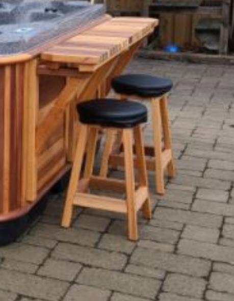 "24"" Cedar Bar Stool"