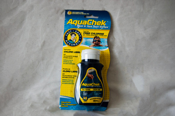 Aquacheck Chlorine Test Strips - Yellow