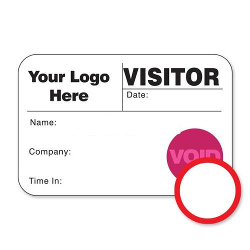 "VisitorPass 4""x2"" DOT Expiring Direct Thermal Name Badges (VDTD)"