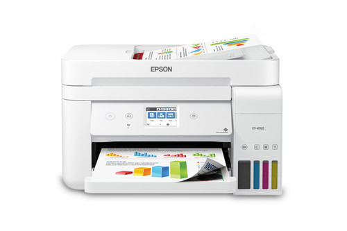 Epson EcoTank ET-4760 All-in-One Cartridge-Free Supertank Printer - White