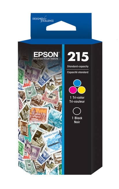 Epson 215 Black+Tri-Color Ink Cartridge 2-Pack (T215120-BCS)