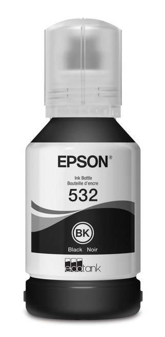 Epson T532 Black Ink Bottle | EcoTank 532 Ink 6,000 Page Yield (T532120-S)