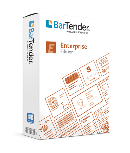 BarTender 2021 Enterprise: Application License + 50 Printers  (3 Yr Maintenance)
