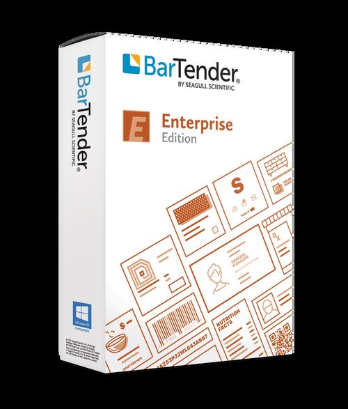 BarTender 2021 Enterprise: Application License + 10 Printers  (3 Yr Maintenance)