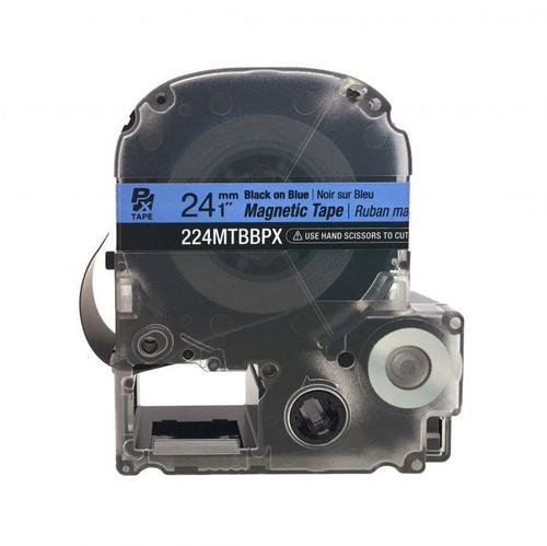 "Epson 224MTBBPX-4.9 24MM 1"" X 4.9' BLACK ON BLUE MAGNET TAPE"