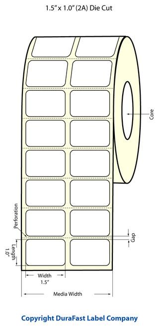 Epson TM-C3500 1.5x1 High Gloss Label Roll | Epson Media | 811008