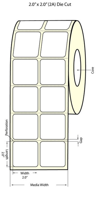 Epson TM-C3500 2x2 High Gloss Label Roll | Epson Media | 811012