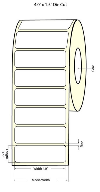 Epson TM-C3500 4x1.5 High Gloss Label Roll | Epson Media | 811018