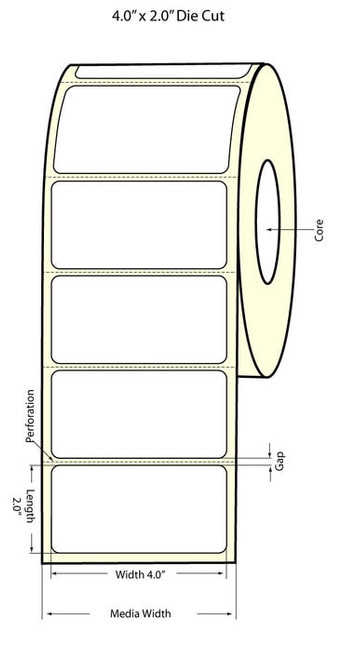 Epson TM-C3500 4x2 High Gloss Label Roll | Epson Media | 811019