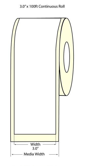 "Epson TM-C3500 3"" Matte Label Roll 100 Feet | Epson Media, TM-C3500 Labels 812002"