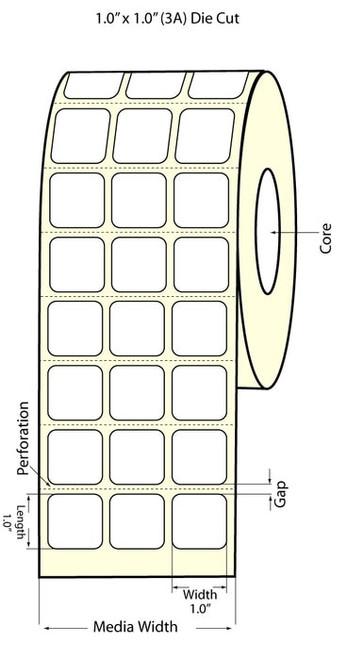 Epson TM-C3500 1x1 Matte Labels | Epson Media |TM-C3500 Labels 812006