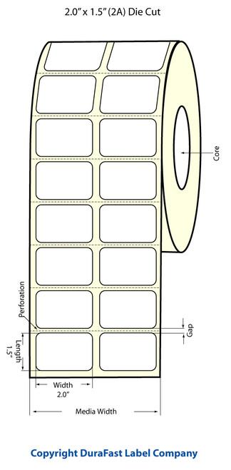 Epson TM-C3500 2x1.5 Matte Labels | Epson Media | 812011
