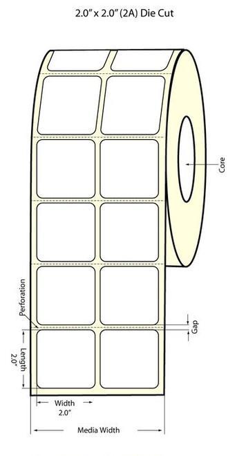 Epson TM-C3500 2x2 Matte Labels | Epson Media | 812012