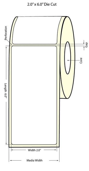 Epson TM-C3500 2x6 Matte Labels | Epson Media | 812024