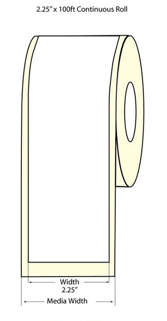 "Epson TM-C3500 2.25"" Matte Label Roll 100 Feet - 812035"
