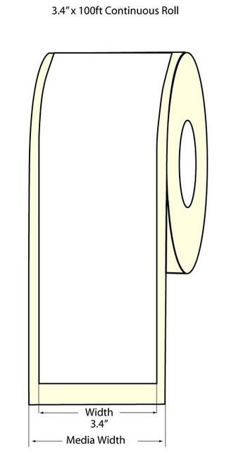 Epson TM-C3500 3.4 Matte BOPP Label Roll 100 Feet | Epson Media 814003