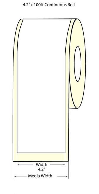 """Epson TM-C3500 4.2"""" Matte BOPP Label Roll 100 Feet   Epson Media 814005"""