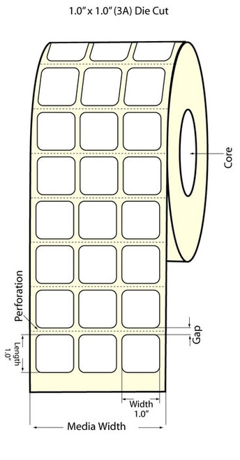 Epson TM-C3500 1x1 Matte BOPP Label Roll | Epson Media | 814006