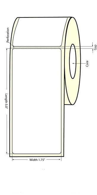 Epson TM-C3500 1.75x5 Matte BOPP Label Roll | Epson Media | 814009