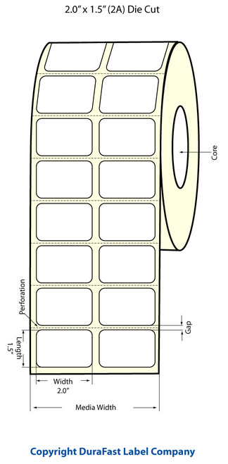 Epson TM-C3500 2x1.5 Matte BOPP Label Roll | Epson Media | 814011