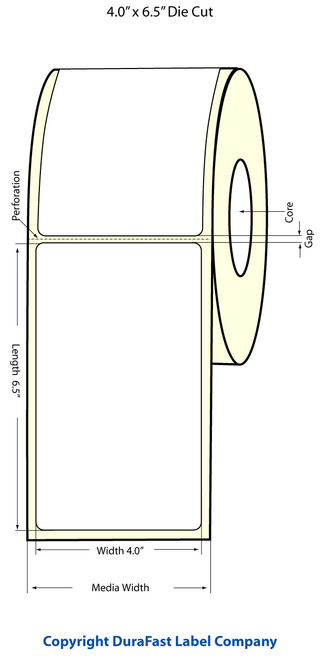 Epson TM-C3500 4x6.5 Matte BOPP Label Roll | Epson Media | 814023