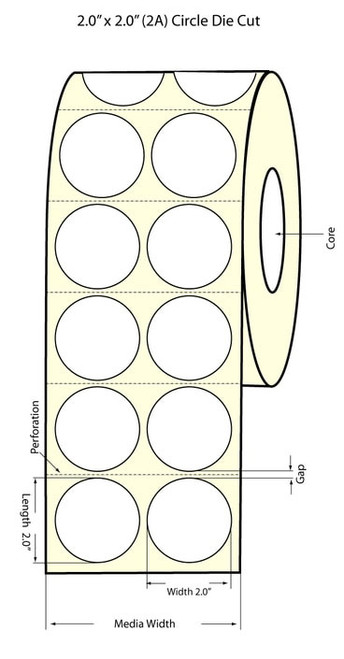 "Epson TM-C3500 2"" High Gloss Circle Labels (2AC) | Epson Media | Epson Labels |"