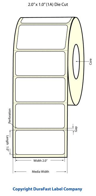 Epson TM-C3500 2x1 High Matte Label (1 Across)  Roll | Epson Media