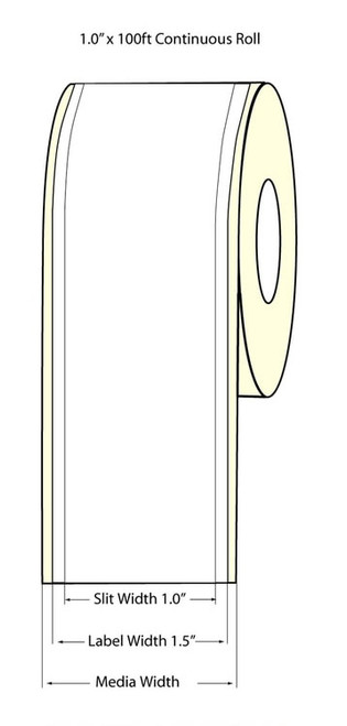 "Epson TM-C3500 1"" High Gloss Label Roll 100 Feet | Epson Media 811033"