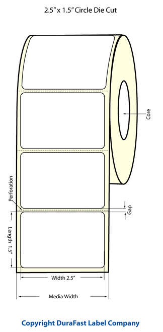 Epson TM-C3500 2.5x1.5 High Gloss Labels | Epson Media | 811034